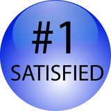 Number one. Is Customer Satisfied for CMS Royalty Free Stock Photos