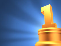 Number one award blue background Stock Photography