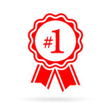 Number one award seal Royalty Free Stock Images