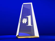 Number One 1 Award Trophy Top Prize Stock Photography