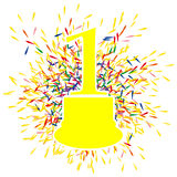 Number one award on white background. Vector illustration Royalty Free Stock Photos