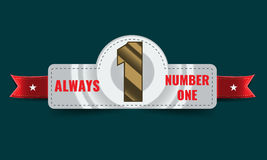 Number one background with ribbon. Stock Images
