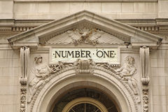 NUMBER ONE at the building Royalty Free Stock Photo