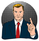 Number One businessman. Retro style vector illustration