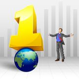 Number one Businessman Royalty Free Stock Images