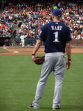 Number One, Corey Hart stands in the right field Royalty Free Stock Photo
