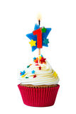 Number one cupcake Stock Photography