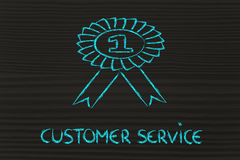 Number one customer service Stock Image