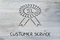 Number one customer service Royalty Free Stock Photography