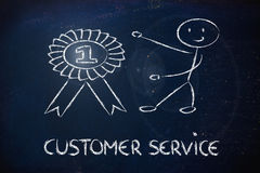 Number one customer service Royalty Free Stock Image
