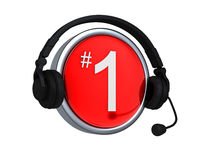 Number one Customer service Royalty Free Stock Images