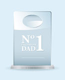 Number one dad award. Fathers day award for the worlds best dad or pop Royalty Free Stock Photo