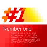 Number one design elements. Vector illustration Stock Photos