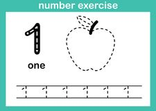 Number one exercise. Illustration vector stock illustration