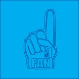 Number one fan hand blueprint Stock Photos