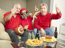 Number One Football Fans royalty free stock image