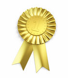 Number one , Golden Award Ribbon Royalty Free Stock Image