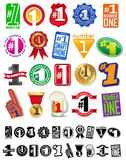 The Number One #1 Great Seals and Badges Collection Royalty Free Stock Photos