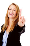 Number one hand gesture Royalty Free Stock Images