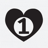 Number one heart icon. An images of number one heart icon Stock Photos