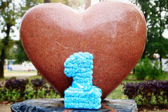 Number one on heart shaped craft concept Royalty Free Stock Photography
