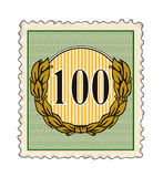 Number one hundred stamp Royalty Free Stock Photography
