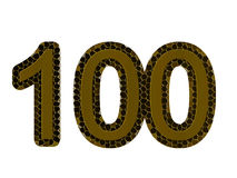 Number one hundred on a white background Stock Photos