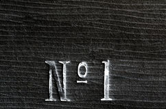 Number one inscription Royalty Free Stock Images