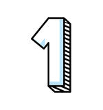 Number one isolated icon. Vector illustration design Royalty Free Stock Image