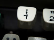 Number one key on vintage typewriter Royalty Free Stock Image