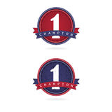 Number one label design,first sign. Vector illustration Stock Photo
