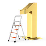 Number one and ladder Royalty Free Stock Images