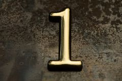 Number One Lettering Stock Image