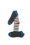 Number one. Made from colourful socks. Different socks isolated on white Royalty Free Stock Photos