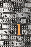 Number one - numerical background Royalty Free Stock Photography