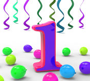Number One Party Means First Year Party Or. Number One Party Meaning First Year Party Or Celebration Stock Photos