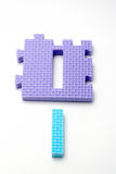 Number one puzzle mats. Focus on the front (small DOF) Royalty Free Stock Photography
