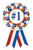 Number one ribbon - clip path stock photos