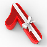 Number One With Ribbon Shows Good Wishing Stock Images