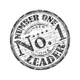 Number one rubber stamp Royalty Free Stock Photos