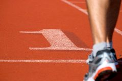 Number one runner Royalty Free Stock Photography
