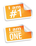 Number one  set Stock Photo