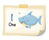 Number one shark vector Royalty Free Stock Image