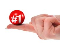 Number one sign on finger Stock Photo