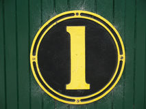 Number one sign Stock Images