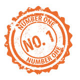 Number one stamp vector Stock Images