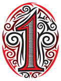 Number one tattoo Royalty Free Stock Photography