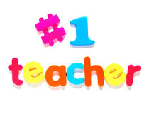 Number one teacher Royalty Free Stock Images