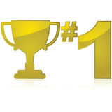 Number one trophy Royalty Free Stock Photos