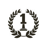 Number one trophy icon Stock Images